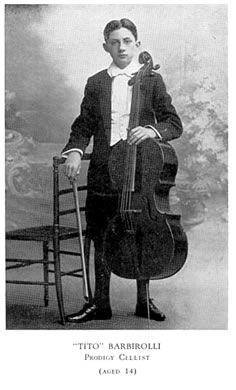 Barbirolli Cellist  age 14
