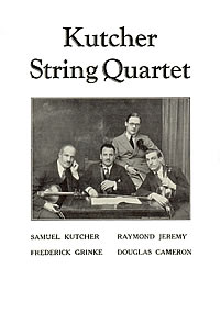 Kutcher String Quartet 1931 Press Notices